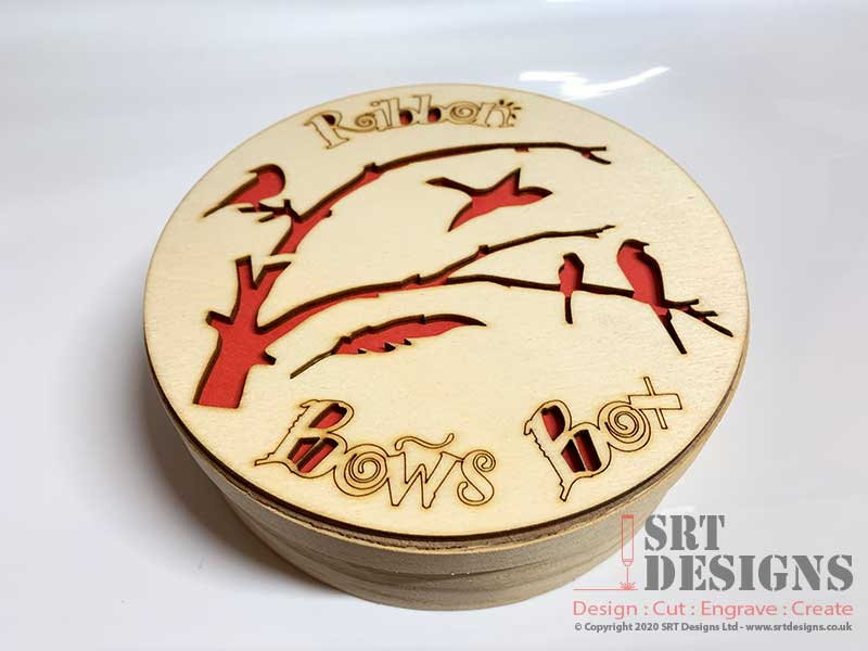 Photo of Turkish Delight Box with new laser cut designed lid.
