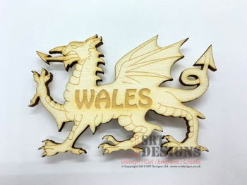 """WALES"" Dragon Magnet"