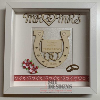 Framed Wedding Day Horseshoe