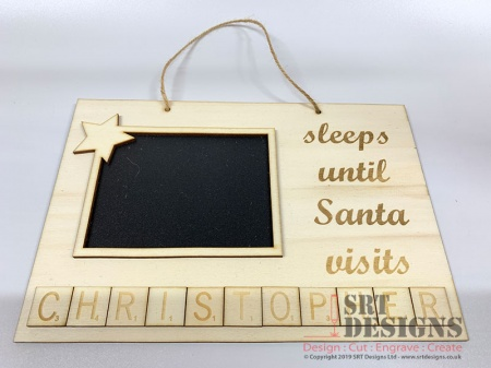 Sleeps Until Santa Visits (Landscape)