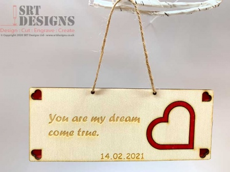 Valentine's Day Message & Date Hanging Gift